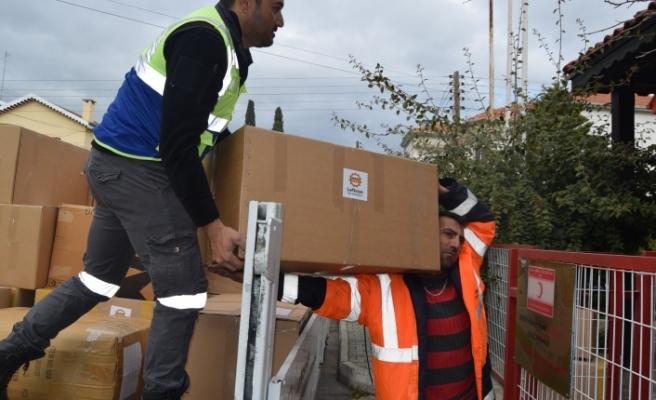 LTB'nin yardım için topladığı malzemeler Kızılay'a teslim edildi