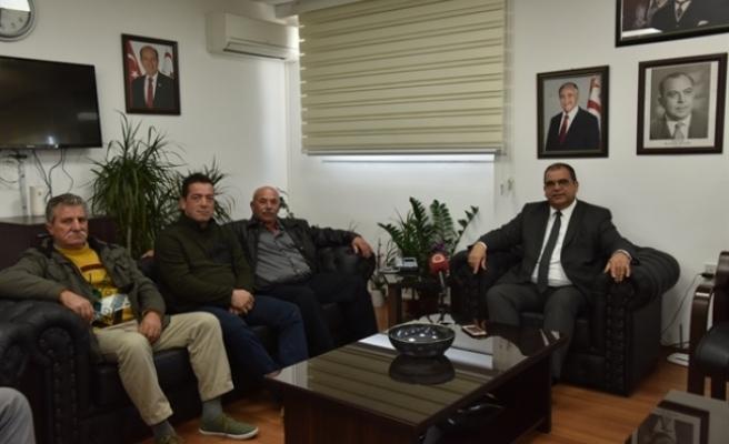 Sucuoğlu Balıkçılar Birliği temsilcilerini kabul etti