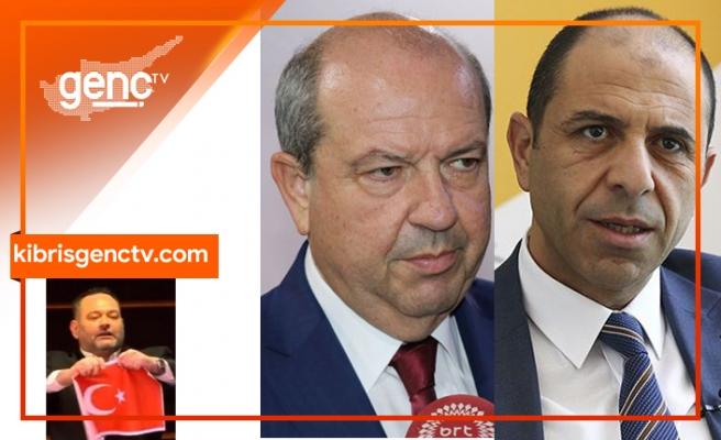 Tatar ve Özersay Türk bayrağını yırtan Yunan milletvekiline tepki gösterdi