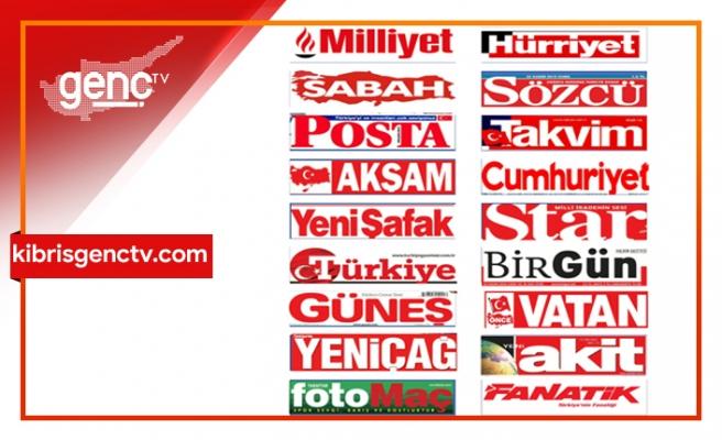 Türkiye Gazetelerinin  Manşetleri - 25 Ocak 2020