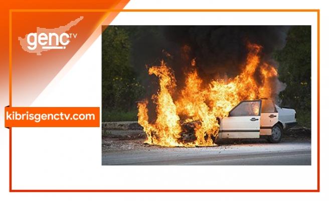 Araç tamamen yandı