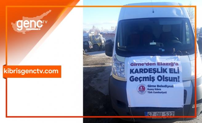 Girne Belediyesi yardımları Elazığ'a ulaştı