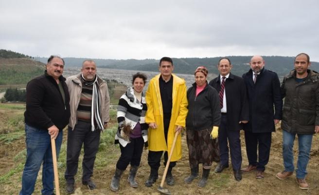 Oğuz, Geçitköy Barajındaki fidan ekimi etkinliğine katıldı