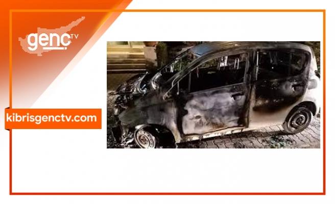 Park halindeki araç yakıldı