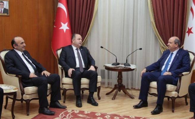 Tatar, ANAP Genel Başkanını kabul etti