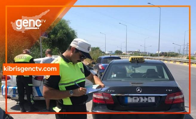 1 haftada 4663 araç sürücüsü kontrol edildi
