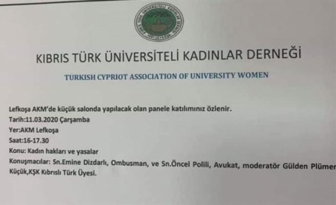"""""""Kadın Hakları ve Yasalar"""" konulu panel düzenleniyor"""