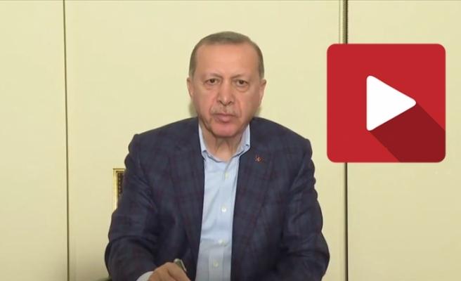 """Erdoğan: """"Devletimiz tüm kurumlarıyla görevinin başında"""""""