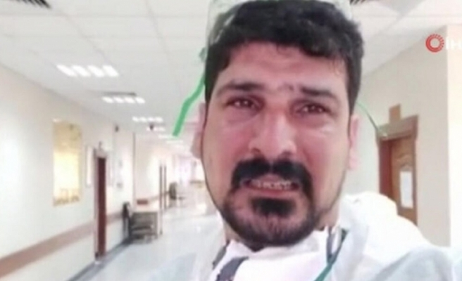 """Iraklı doktor ağlayarak """"evde kalın"""" dedi"""