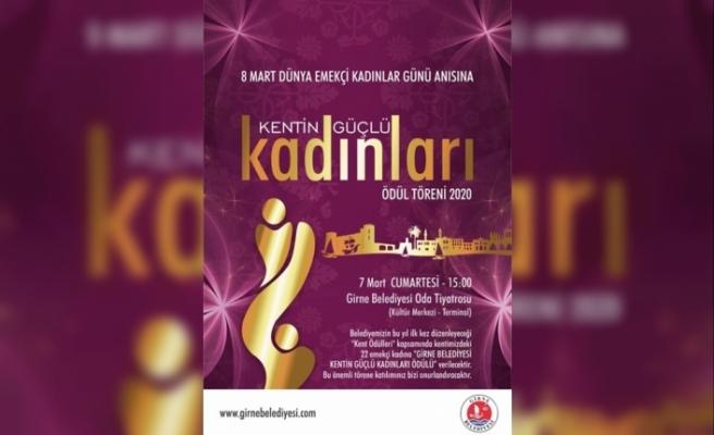 Kentin Güçlü Kadınları Ödül Töreni gerçekleştiriyor