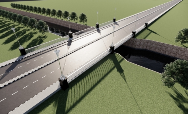 Özker Özgür Caddesi'nde yeni köprü yapımı