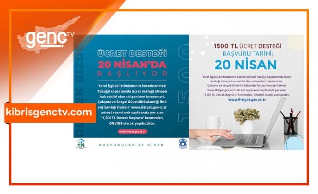 1500 TL Ücret Desteği'ne başvurular başladı