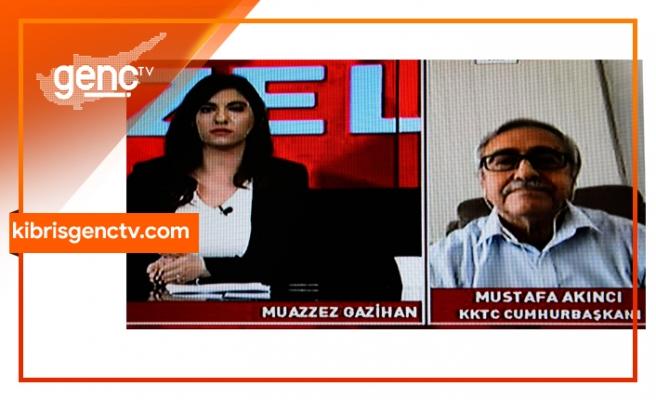 Akıncı, Kıbrıs Genç Tv yayınında süreci değerlendiriyor