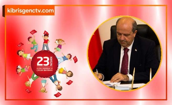 Başbakan Ersin Tatar'dan 23 Nisan mesajı