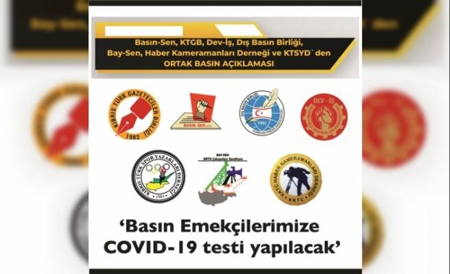 Basın çalışanlarına Covid-19 testi