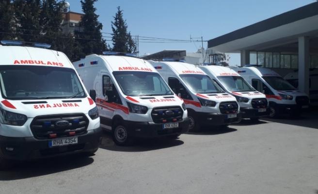 Beş adet ambulans teslim alındı