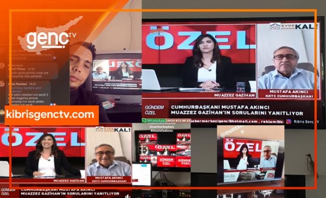 Cumhurbaşkanı Akıncı'nın KIBRIS GENÇ TV'de ki özel yayını izlenme rekoru kırdı