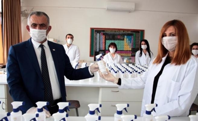 Gazimağusa TMK dezenfektan üretimine başladı