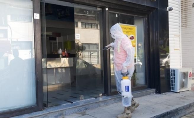 Girne'de dezenfekte çalışmaları