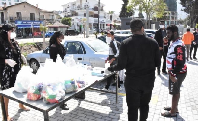 Girne'de duyarlı iş insanlarının yardımları devam ediyor