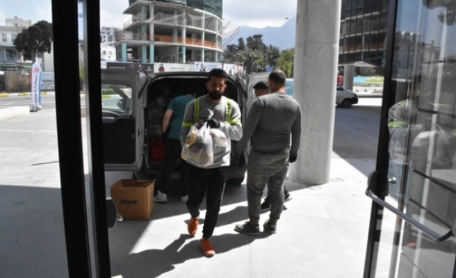 Güngördü: Girne bölgesinde iş insanlarının yardımları devam ediyor