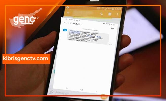 Hükümet SMS gönderdi