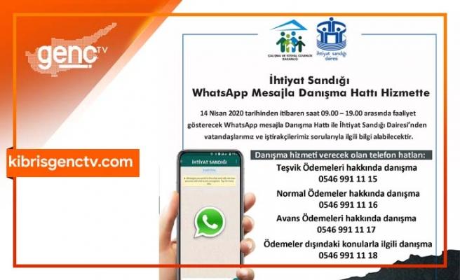 İhtiyat Sandığı WhatsApp mesajla danışma hattı hizmette