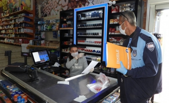İskele'de bazı market ve kasaplara uyarı yazısı verildi
