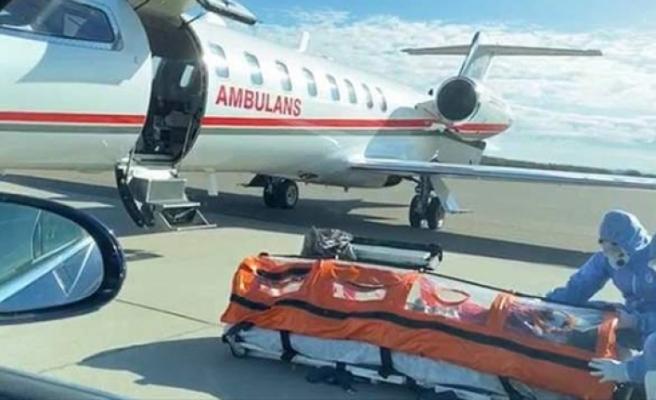 İsveç'teki Türk hasta ambulans uçakla Türkiye'ye gitti