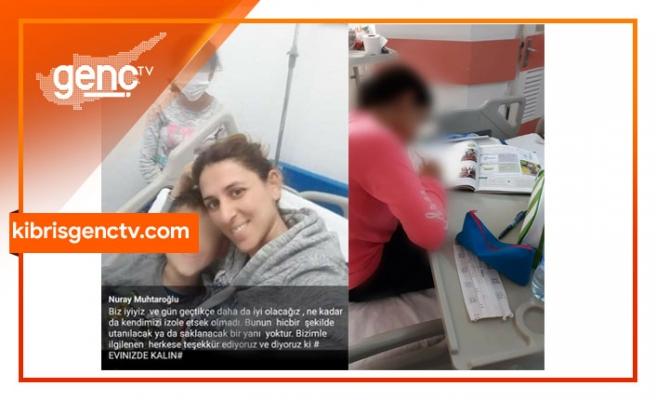 """Karantinaya alınan hastanede duygulandıran görüntü... Anne: """"Biz iyiyiz daha da iyi olacağız"""""""