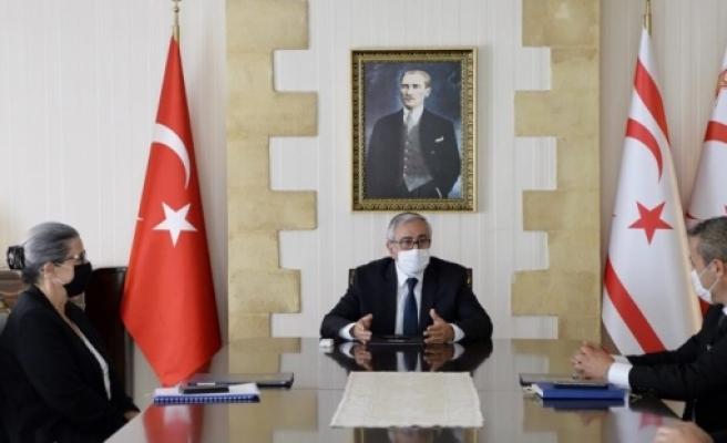 Akıncı, Yüksek Mahkeme Başkanı,Başsavcı Vekili ve KHK Başkanı'nı kabul etti