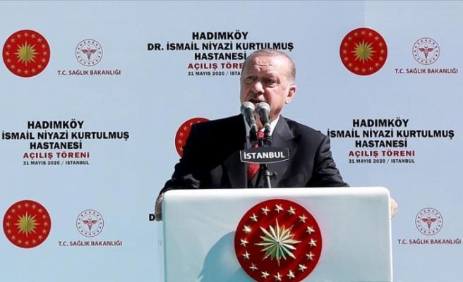 """Erdoğan: """"Buram buram tarih kokan ve vatandaşlarımıza şifa vesilesi olacak bir eser ortaya çıktı"""""""