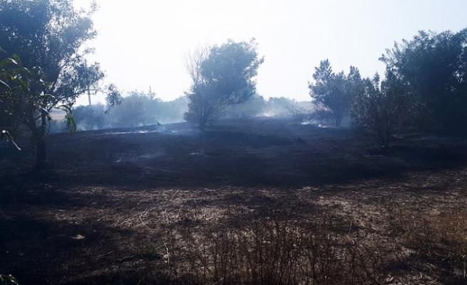 Gönyeli'de arazi yangını