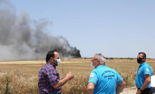 İskele'de yangın kısmi olarak kontrol altına alındı