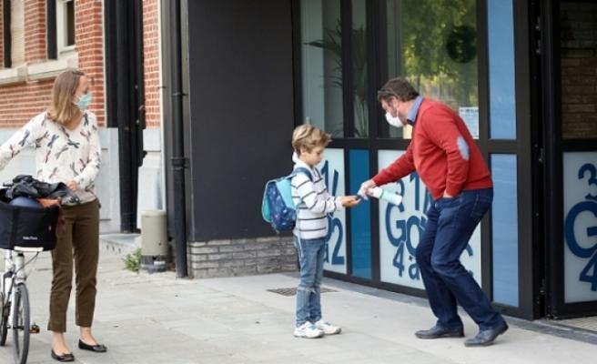 Kovid-19 vaka sayısı 55 bini aşan Belçika'da okullar kademeli açıldı