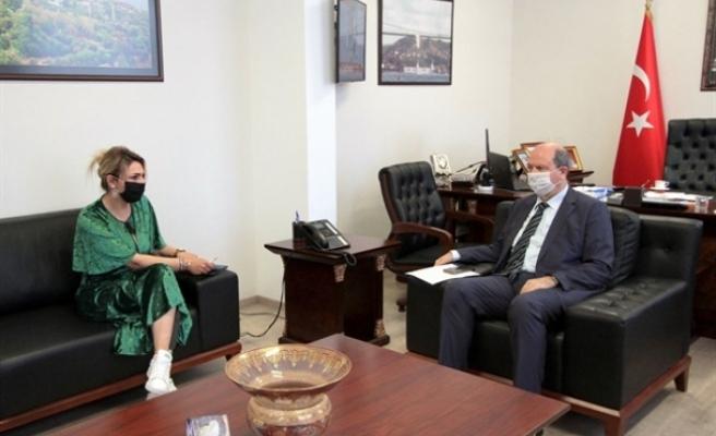 Tatar,  Engelli Hizmetleri Koordinasyon Kurulu Başkanı İlgen Bağcıer'i kabul etti