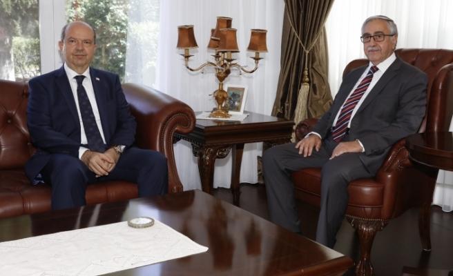 Akıncı, Ersin Tatar'ı kabul etti
