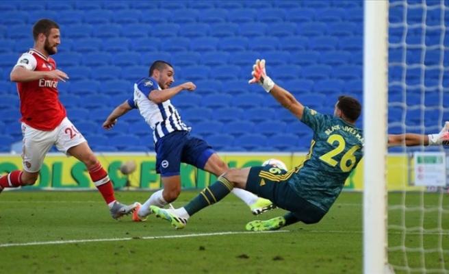 Arsenal, deplasmanda Brighton'a 2-1 yenildi