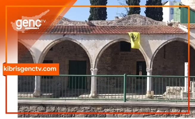 Güneydeki Tuzla camiini bizans bayrağı!... Tatar, olayı kınadı