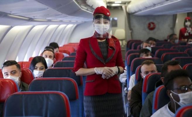 Normalleşme döneminin ilk uçak seferi yapıldı