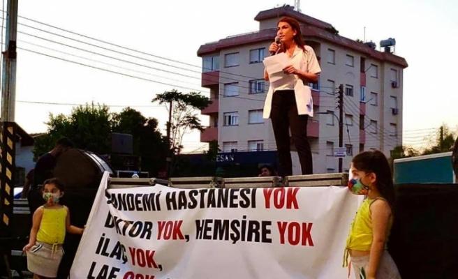 Sendikal Platform ve bazı sağlık örgütlerinden Lefkoşa'da eylem