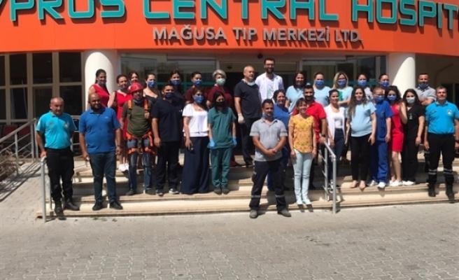 Sivil Savunma'dan Mağusa Tıp Merkezinde tatbikat