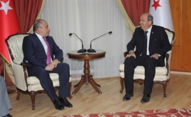 Tatar, Başçeri'yi kabul ederek bir süre görüştü