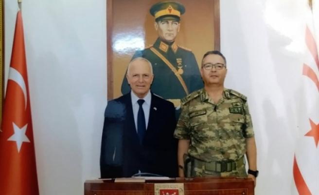 Töre, Güvenlik Kuvvetleri Komutanı Tuğgeneral Altan Er'i ziyaret etti.