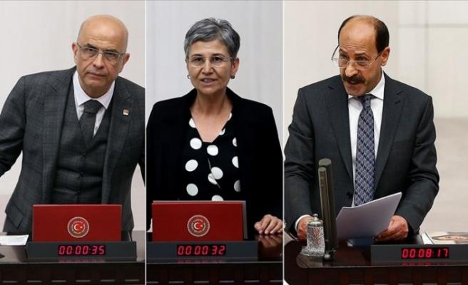 Türkiye'de CHP'li Berberoğlu, HDP'li Güven ve Farisoğulları'nın milletvekilliği düşürüldü