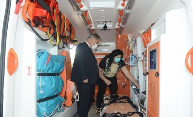Vakıflar'ın hibe ettiği ambulanslar  112 ağında kullanılmaya başlanıyor