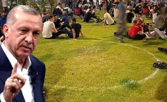 Vatandaşların hafta sonu sosyal mesafeye dikkat etmeden oturduğu fotoğraflar Erdoğan'ı sinirlendirdi