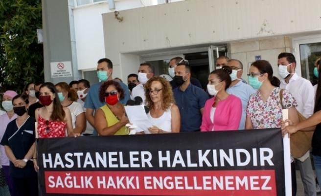 13 sivil toplum örgütünden hastane önünde eylem