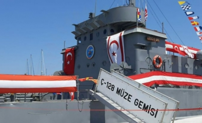 20 Temmuz 1974 Barış Harekatı'nda yer alan çıkarma gemilerinden 'Ç-128'in 'Müze Gemi' olarak açılışı yapıldı