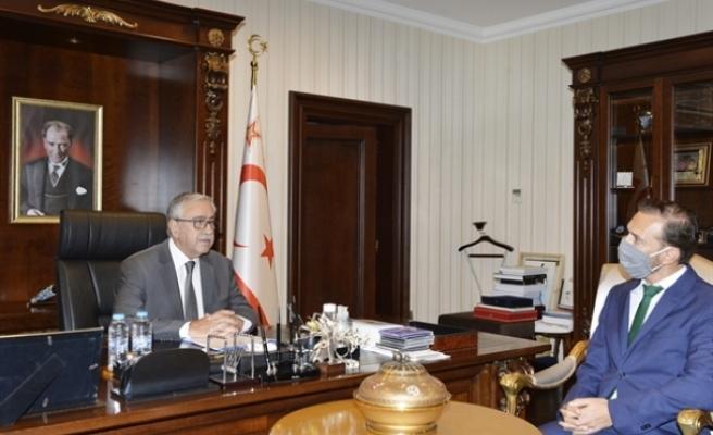 Akıncı, Roma temsilciliğine atanan  Mustafa Davulcu'yu kabul etti